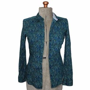 🎀3/$30 The Limited Blue Paisley Button Up Shirt